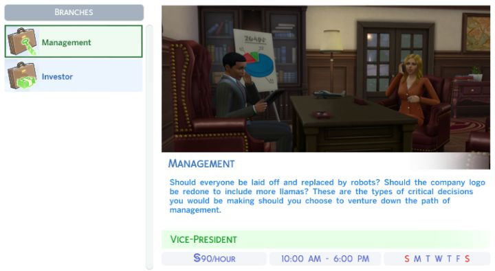 The Sims 4 Business Career: Management And Investor