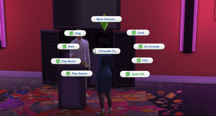 The PR branch of social media in The Sims 4 City Living