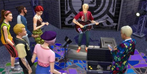 The Sims 4 Critic career track in the City Living Expansion