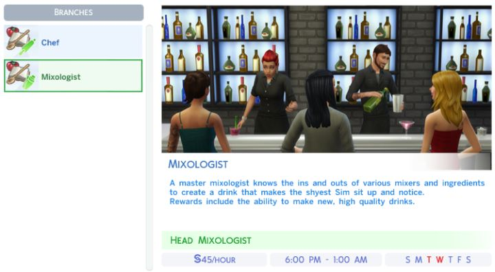 The Sims 4 Culinary Career - Job Rewards & Bonuses
