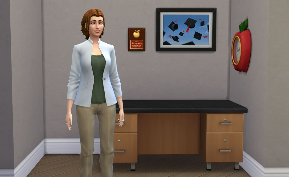 An Administrator in The Sims 4 Discover University
