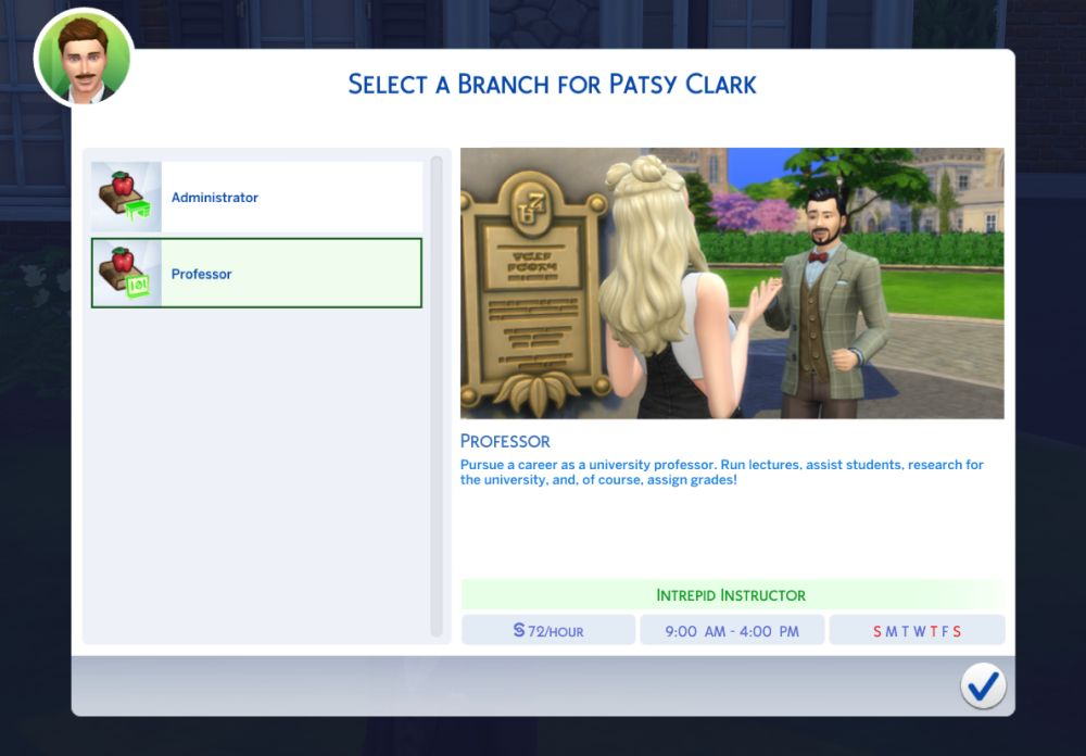 The Sims 4 Discover University Education Career lets you be a professor or administrator