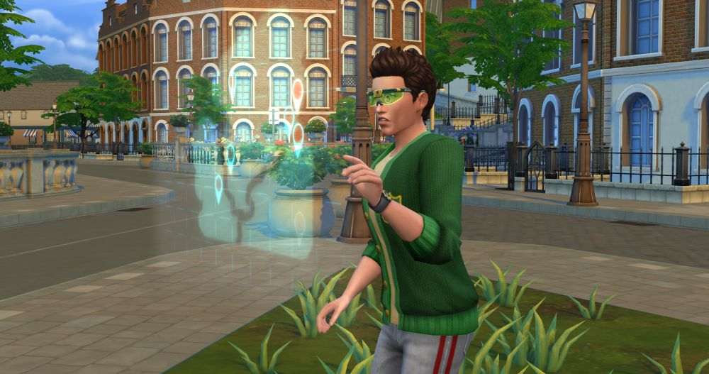 Computer glasses in The Sims 4 Discover University