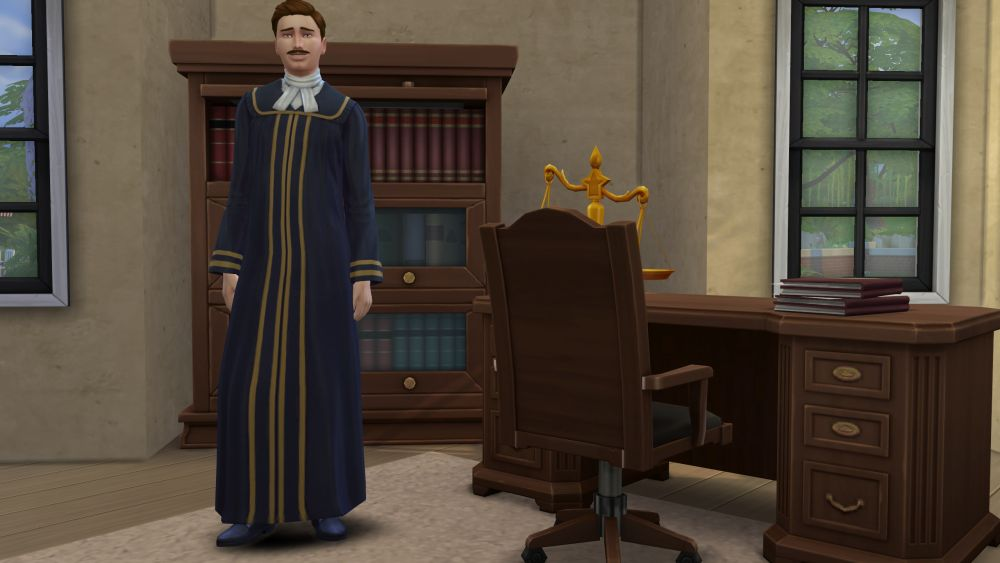 Judge career in The Sims 4