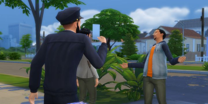 Detective goes on patrol in The Sims 4 Get to Work