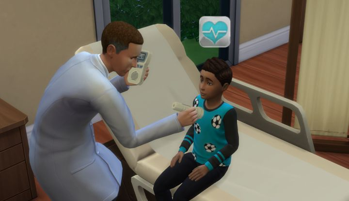 A child sim patient in TS4