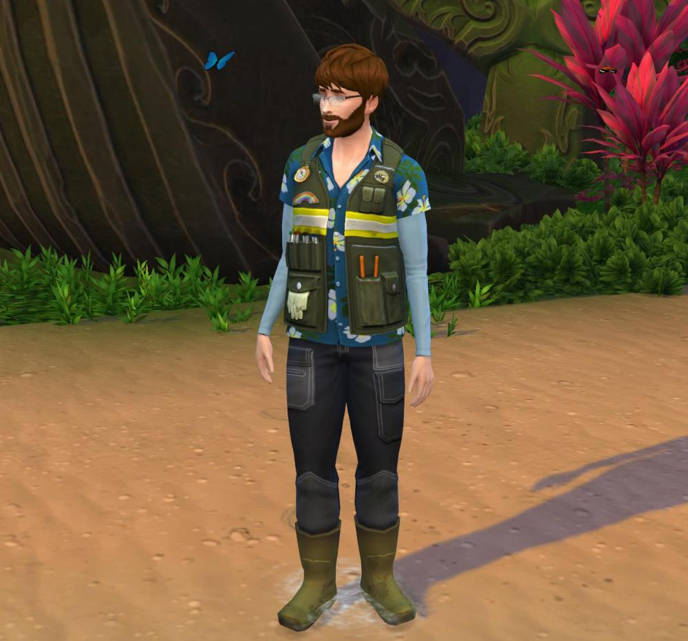 The Sims 4 Island Living: Conservationist Uniforms