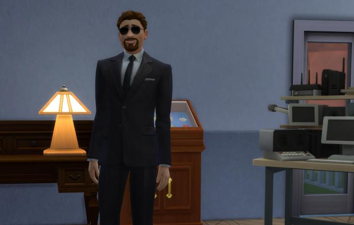 Man in Black for Covert Operator in The Sims 4 StrangerVille Game Pack