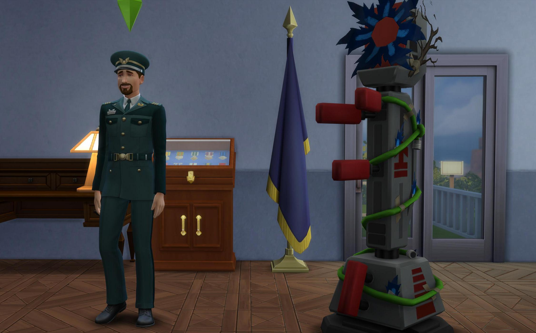 Military Career Officer Rewards in The Sims 4 StrangerVille Game Pack