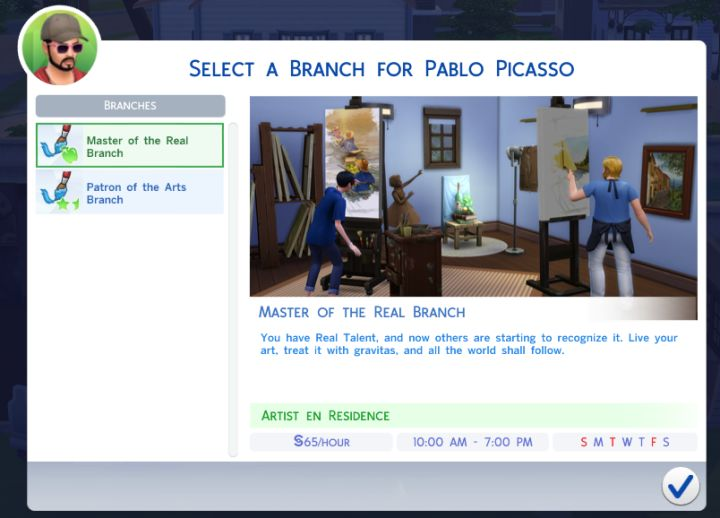 The Sims 4 Painter Career Job Rewards Bonuses