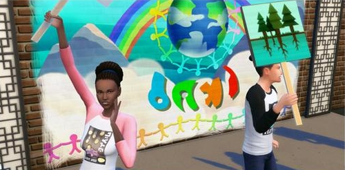 Play a politician in The Sims 4 City Living Expansion Pack