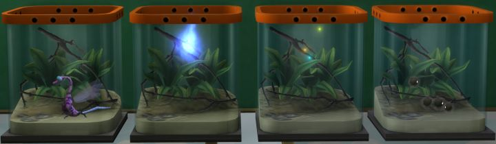 The Sims 4 Rare Insects: Will-o-the-Wisp, Dragon Dragonfly, Dust Spirit, and Rainbow Firefly