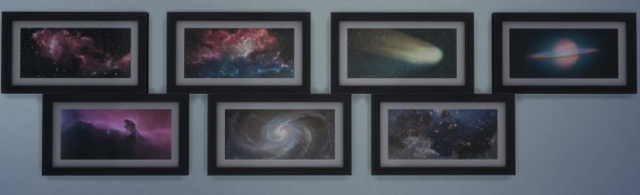 The Sims 4 Space Prints Collection