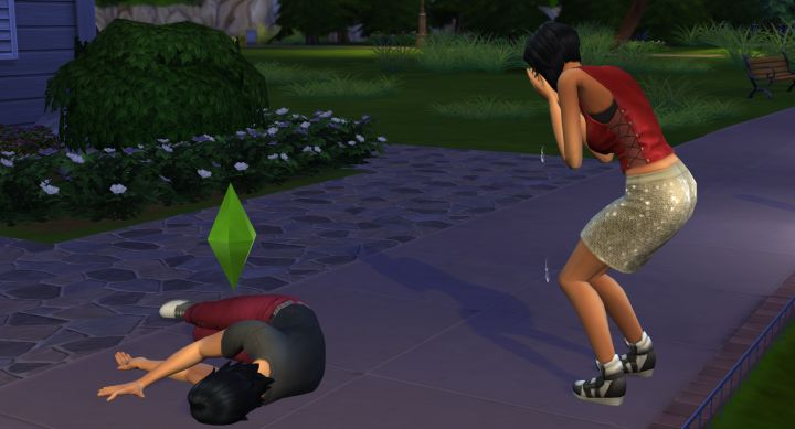 A Sim dies in The Sims 4