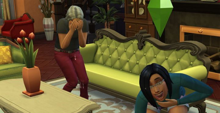 Laughing to Death in The Sims 4