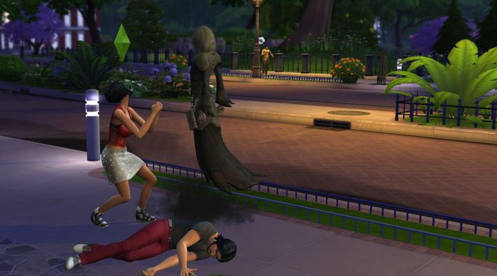 Pleading for a Sim's life in The Sims 4 PC Game