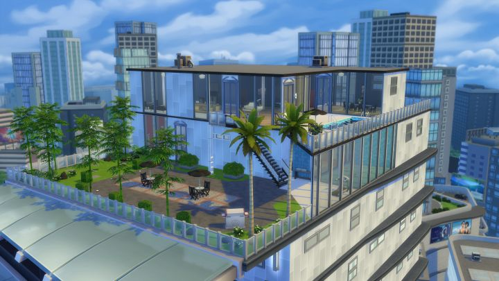 A Penthouse Apartment in The Sims 4 City Living