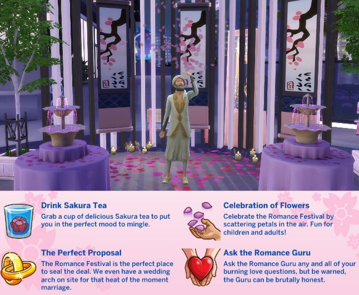 The Sims 4 Romance Festival
