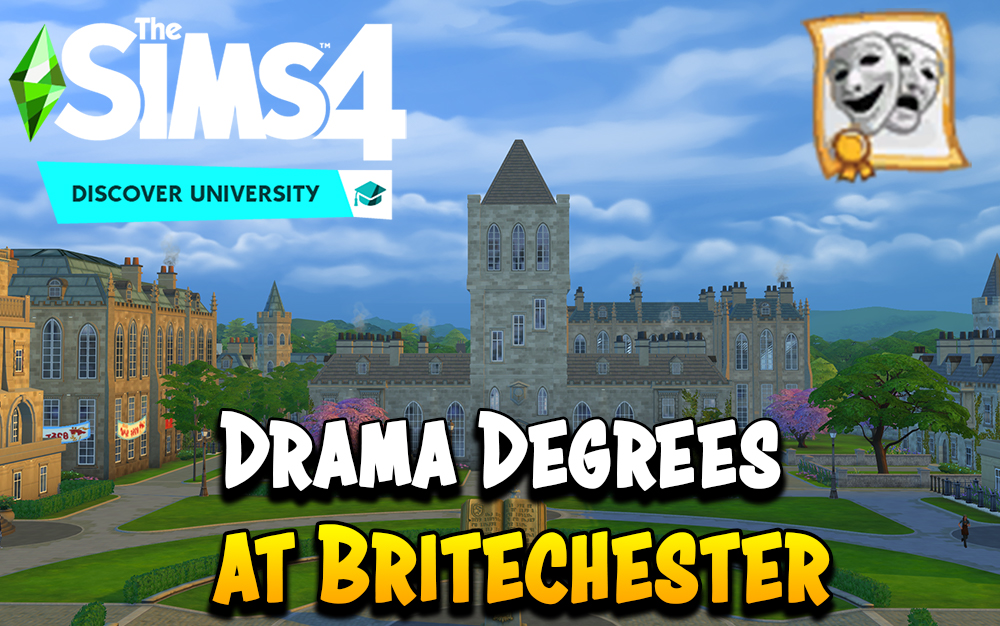 The Sims 4 Discover University Drama Degree Requirements And Career Benefits