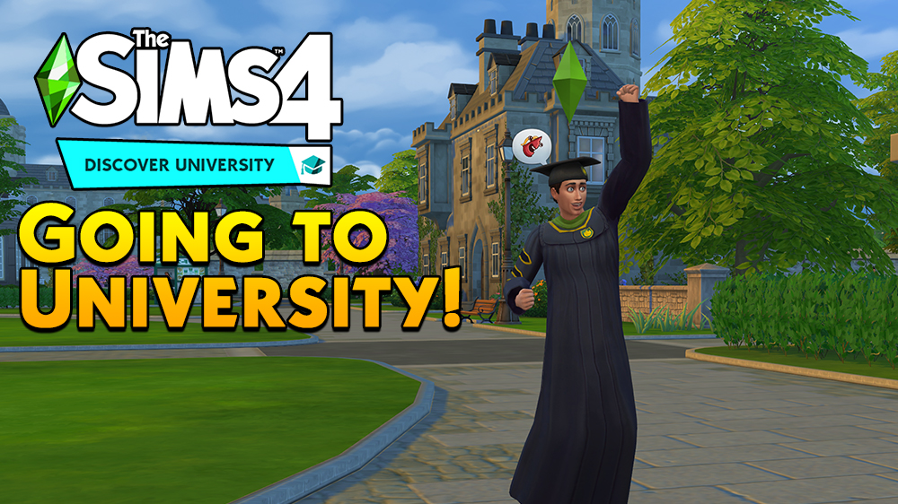 A College Graduate has finished his degree at Foxbury in The Sims 4 Discover University Cheats