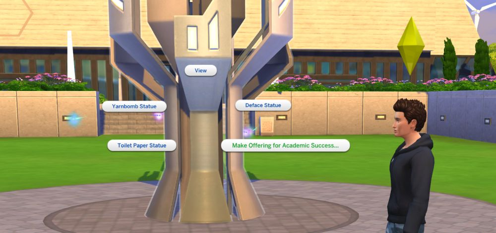 The Sims 4 Discover University Making an offering for academic success