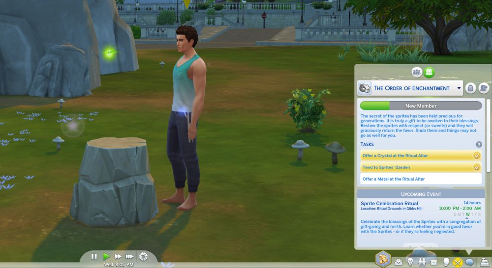 The Sims 4 Discover University: The order of enchantment is a secret society.