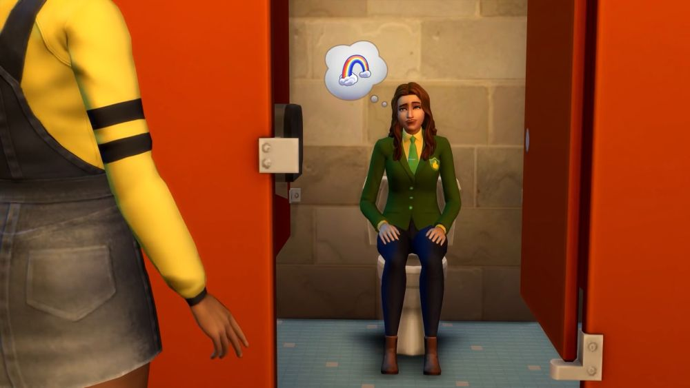 The Sims 4 Discover University Expansion Pack - private bathroom stalls
