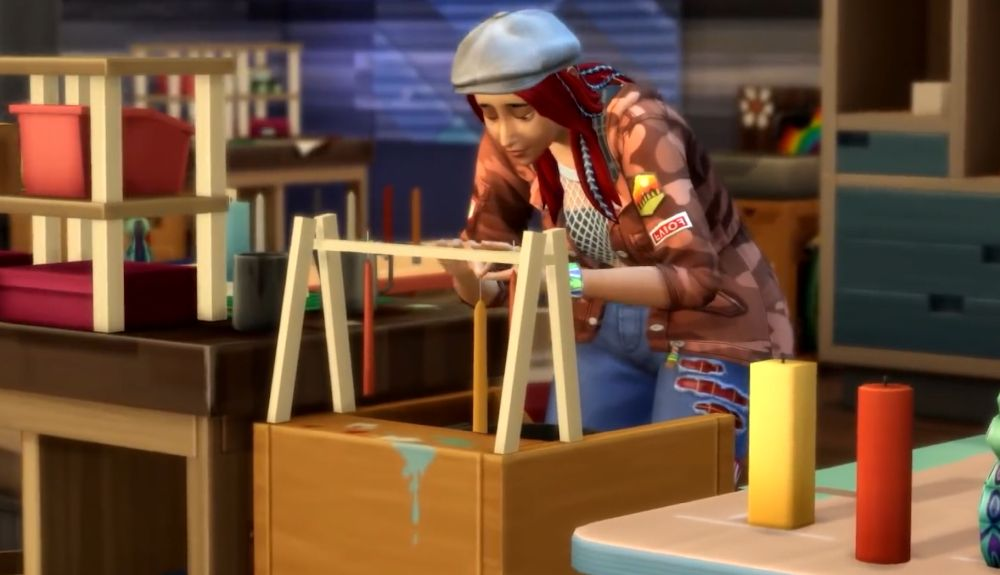 The Sims 4 Eco Lifestyle - crafting candles