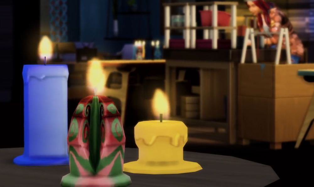 The Sims 4 Eco Lifestyle - candles can melt