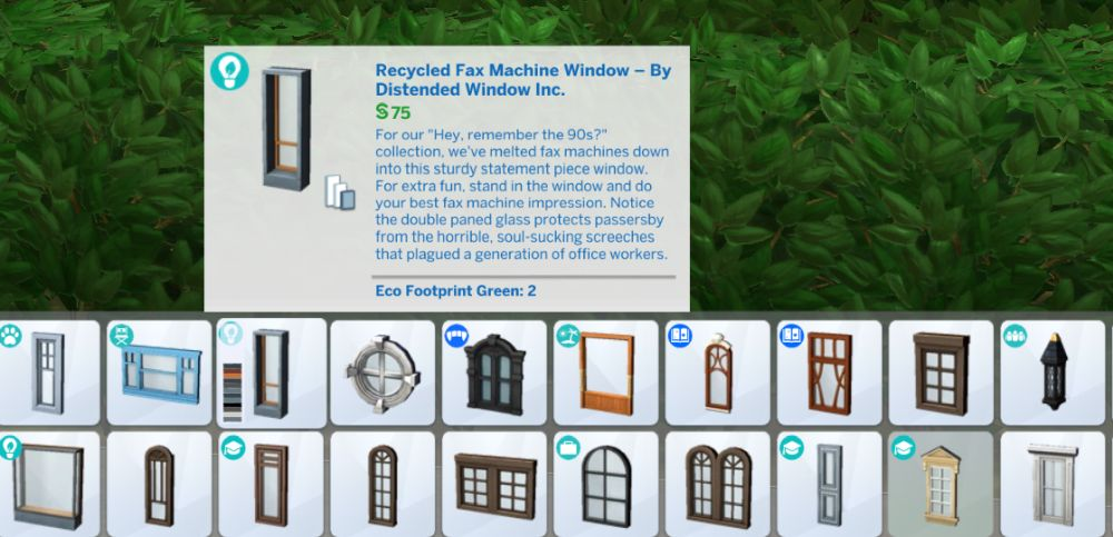 The Sims 4 Eco Lifestyle - You can see which items have eco footprint effects in build mode.