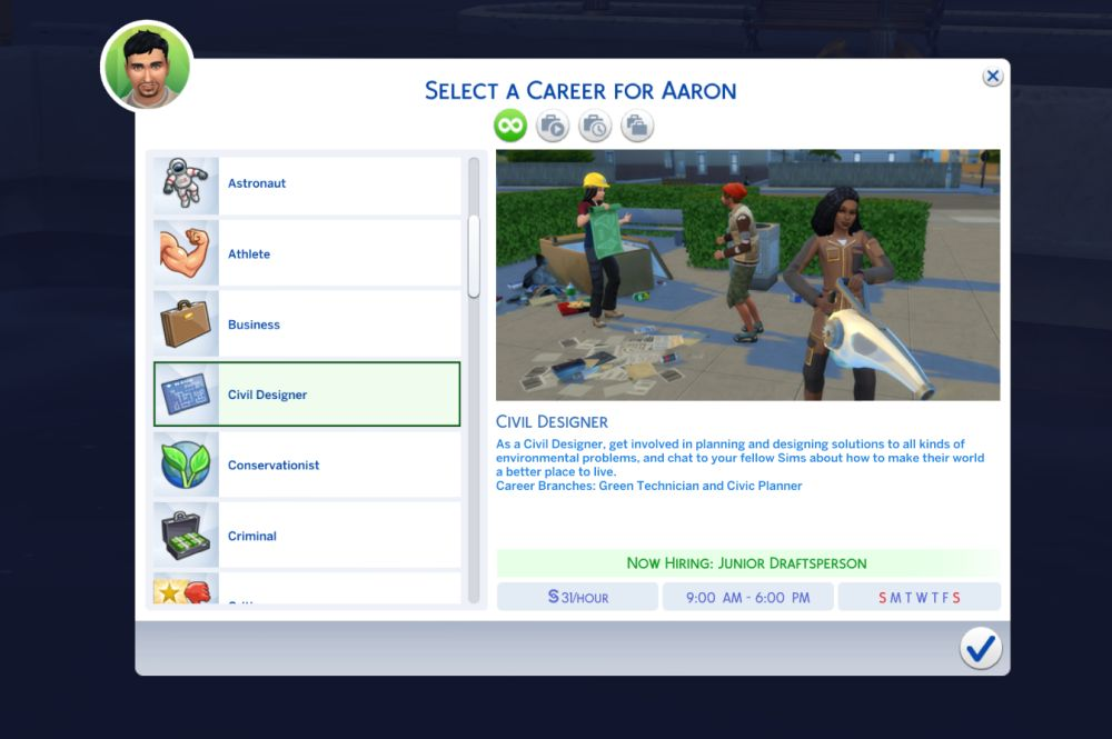 Civil Designer is the new career in The Sims 4 Eco Lifestyle