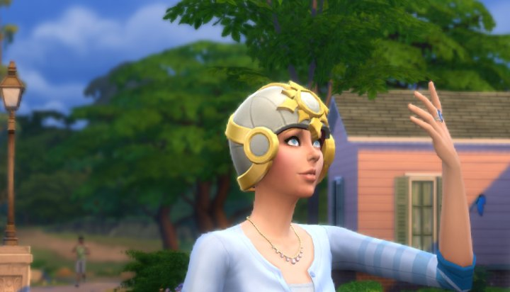 The Celestial Crystal Crown in The Sims 4 Get Famous Expansion