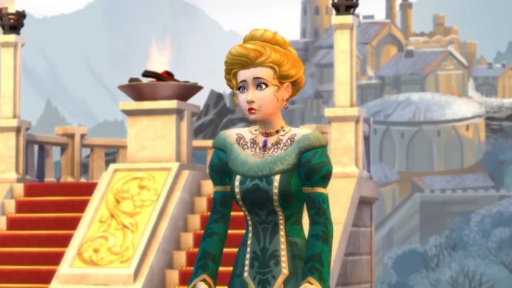 The Sims 4 Get Famous: an actor in costume