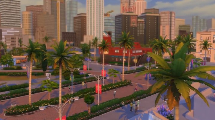 The Sims 4 Get Famous: Picture of the new town of del sol valley