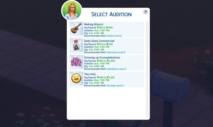 The Sims 4 Get Famous: Acting auditions