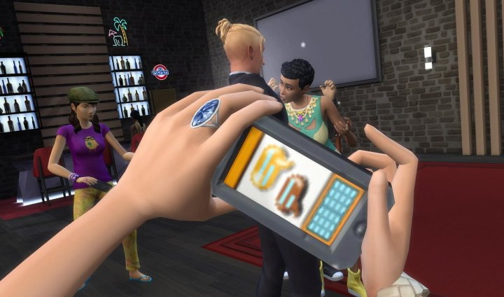 The Sims 4 Get Famous: Getting a celebrity's photograph