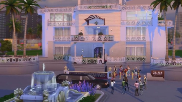 The Sims 4 Get Famous: A mansion in del sol valley