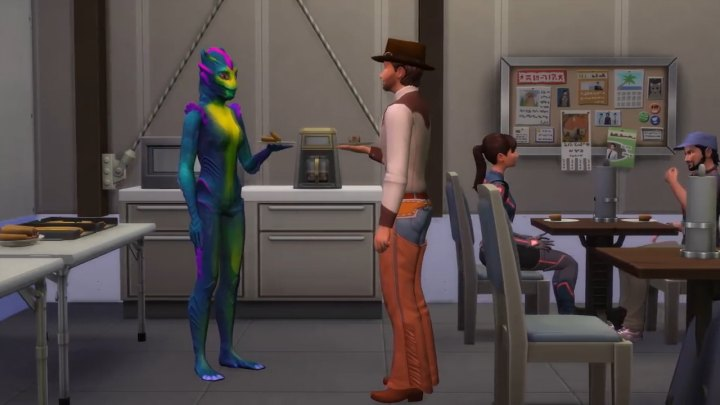 The Sims 4 Get Famous more of the movie set