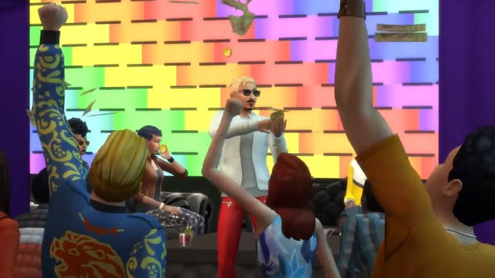 The Sims 4 Get Famous: Throwing Money