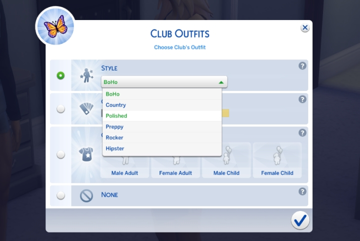Make outfits for your club in Get Together