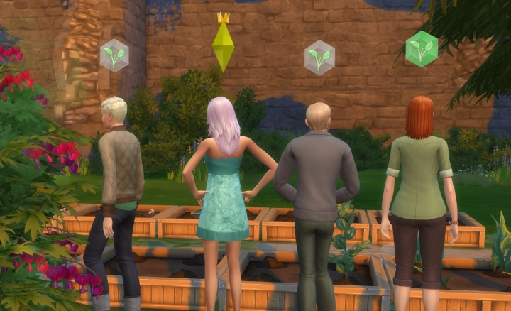 Leading a club in The Sims 4 Get Together