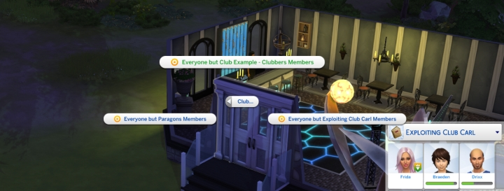 Making a hangout for club members-only requires only locking a door