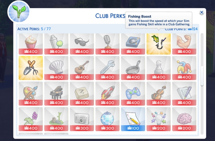 Skill Perks increase gains during club gatherings, which can be used tactically to help your Sims advance much faster.