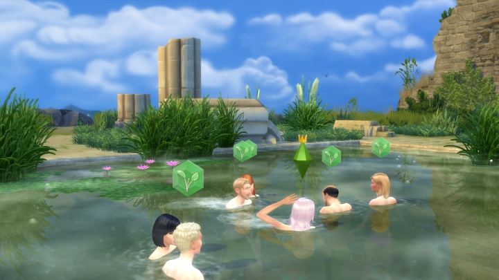 Natural Pool at the Bluffs in Windenburg in The Sims 4