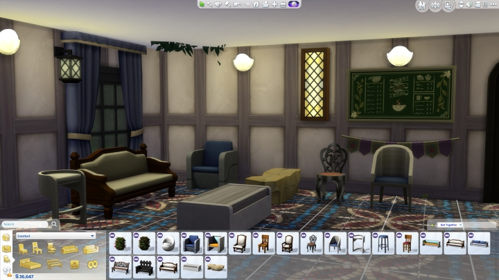 Comfort Decor in Sims 4 Get Together