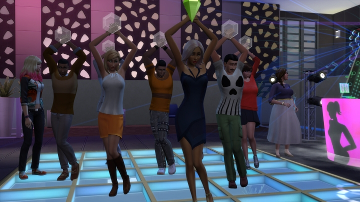 dancing in Sims 4 Get Together