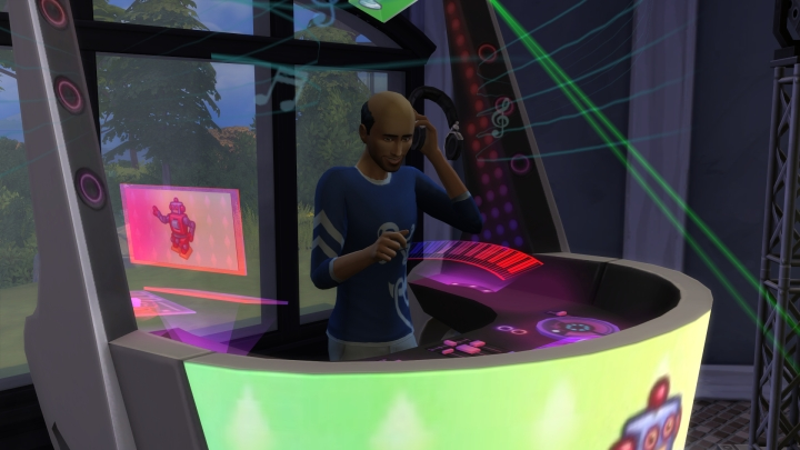 DJ Mixing in The Sims 4 Get Together