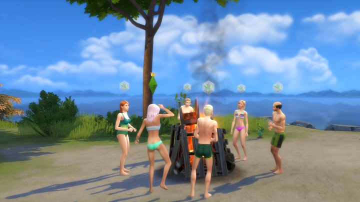 Another picture of the bluffs in the town of Windenburg in The Sims 4 Get Together