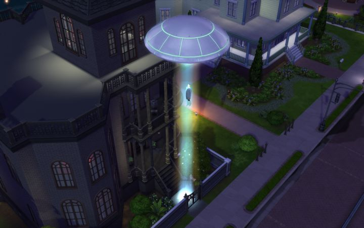 A great picture of a UFO in Sims 4
