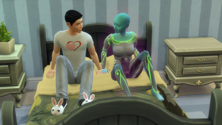 Sims 4 Aliens woohoo and try for baby
